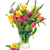 bouquet of tulips and daffodils in vase stock photo © neirfy