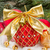 red christmas ball with golden bow stock photo © neirfy