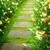 pedra · caminho · jardim · estrada · flor · da · primavera - foto stock © neirfy