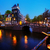 Amsterdam · gece · aziz · kilise · akşam · karanlığı · su - stok fotoğraf © neirfy