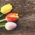 три · красный · тюльпаны · изолированный · белый · Пасху - Сток-фото © neirfy