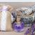 friss · levendula · virágok · fából · készült · tál · só - stock fotó © neirfy