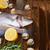 2 · 生 · 魚 · 貝 · スパイス · 木製のテーブル - ストックフォト © neirfy