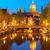kerk · Amsterdam · skyline · oude · binnenstad · kanaal · nacht - stockfoto © neirfy