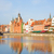 old town over river motlawa gdansk stock photo © neirfy