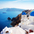 view of caldera with blue domes santorini stock photo © neirfy