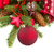green fir tree and red christmas ball close up stock photo © neirfy