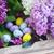 huevos · de · Pascua · frescos · lila · flores · edad - foto stock © neirfy