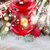 nieve · cubierto · ventana · vela · decorativo - foto stock © neirfy