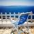 santorini · Grecia · relajante · azul · silla · vista - foto stock © neirfy