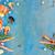 fresche · frutti · di · mare · blu · confine · copia · spazio · banner - foto d'archivio © neirfy