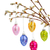 hanging multicolored easter eggs stock photo © neirfy
