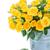 bouquet · fresche · rose · giallo · metal · pot - foto d'archivio © neirfy