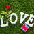 magasnyomás · szeretet · szó · öreg · nyomtatás · kockák - stock fotó © neirfy