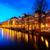 gece · Amsterdam · Hollanda · sokak · köprü - stok fotoğraf © neirfy