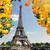 Eyfel · Kulesi · Paris · Cityscape · görmek · nehir · düşmek - stok fotoğraf © neirfy