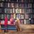 kitaplık · Retro · ahşap · antika · kitaplar · kütüphane - stok fotoğraf © neirfy