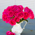 azul · flores · rosa · jarrón · resumen - foto stock © neirfy