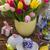 Pasqua · colorato · uova · giallo · tulipani · coniglio - foto d'archivio © neirfy