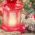 sneeuw · gedekt · venster · kaars · decoratief - stockfoto © neirfy
