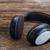 oude · vintage · hoofdtelefoon · hout · rustiek · Blauw - stockfoto © neirfy