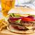 вкусный · гамбургер · картофель · фри · белый · продовольствие · Бар - Сток-фото © neirfy