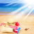 playa · de · arena · arenoso · océano · playa · vacaciones · de · verano · mujer - foto stock © neirfy