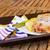 vitela · servido · prato · faca · garfo · comida - foto stock © neirfy