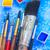 水彩画 · 塗料 · パレット · 白 · 表 · ブラシ - ストックフォト © neirfy