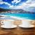 пляж · ресторан · Nice · французский · Франция · продовольствие - Сток-фото © neirfy