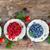 taze · ahududu · kırmızı · yeşil · yaprakları - stok fotoğraf © neirfy