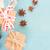 mavi · rustik · Noel · stil · hediye · kutuları · baharatlar - stok fotoğraf © neirfy