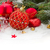 evergreeen tree and red christmas decorations stock photo © neirfy