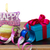 cupcake with candle happy birthday and gift box stock photo © neirfy