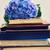 livro · flores · vintage · croissants · comida · relaxar - foto stock © neirfy