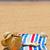 słomkowy · kapelusz · książki · piasku · piasek · na · plaży · morza · strona - zdjęcia stock © neirfy