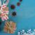 青 · 素朴な · クリスマス · スタイル · ギフトボックス · フレーム - ストックフォト © neirfy