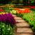 steen · pad · tuin · vers · lentebloem · bloemen - stockfoto © neirfy