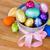 csillámlás · húsvéti · tojások · csoport · színes · izolált · fehér - stock fotó © neirfy