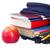 mavi · okul · sırt · çantası · kırtasiye · yalıtılmış · beyaz - stok fotoğraf © neirfy