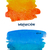 orange and blue watercolor spots stock photo © neirfy