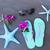 concha · protetor · solar · starfish · praia · azul - foto stock © neirfy