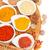 renkli · plakalar · beyaz · ahşap · masa · bo · gıda - stok fotoğraf © neirfy
