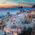 falu · éjszaka · Santorini · égbolt · város · naplemente - stock fotó © neirfy