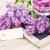 lila · jarrón · frescos · flores · frontera - foto stock © neirfy