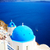 traditional blue dome with sea santorini stock photo © neirfy