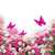 bunch of roses and tulips flowers with butterflies stock photo © neirfy