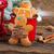 mézeskalács · ember · forró · csokoládé · bögre · fa · asztal · étel · boldog - stock fotó © neirfy