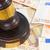 törvény · kalapács · Euro · pénz · fából · készült · dollár - stock fotó © neirfy