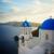 aldeia · santorini · ilha · pôr · do · sol · ver · céu - foto stock © neirfy